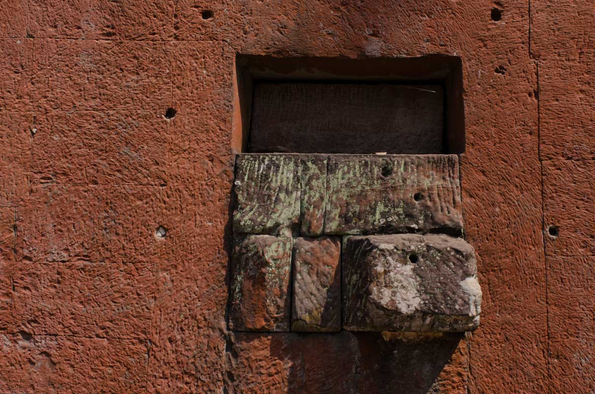 """Stones in wall at """"Tomb Raider"""" temple"""