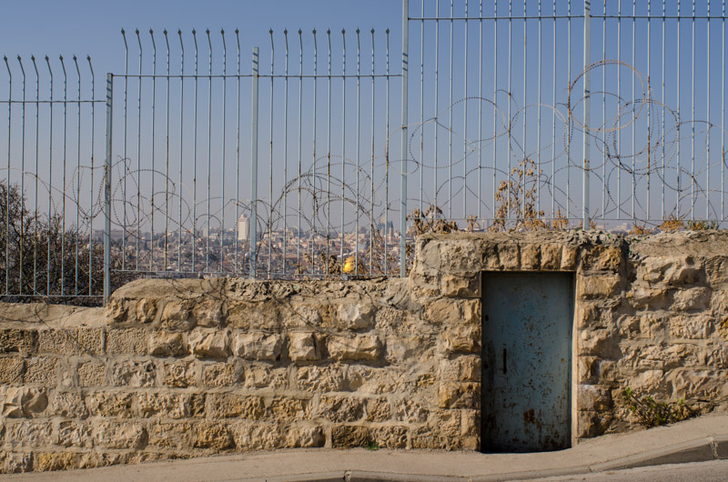 Fence with barbwire