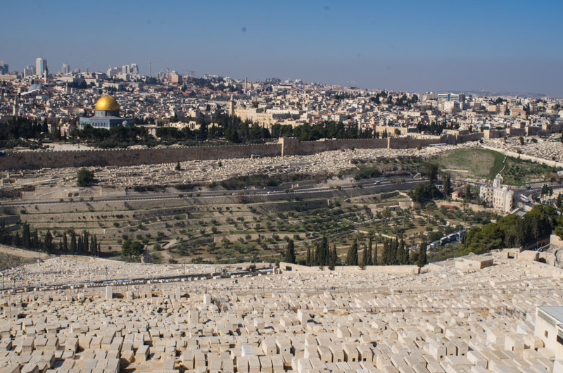 View from the top of Mount of Olives