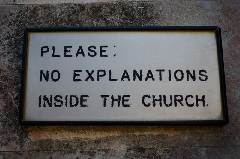 Interesting sign at a church