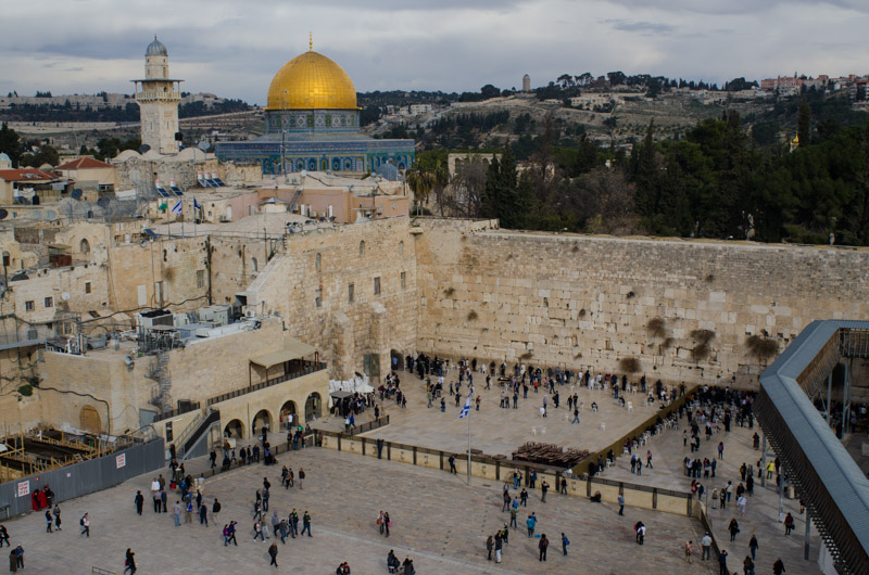 Western Wall with Dome of the Rock