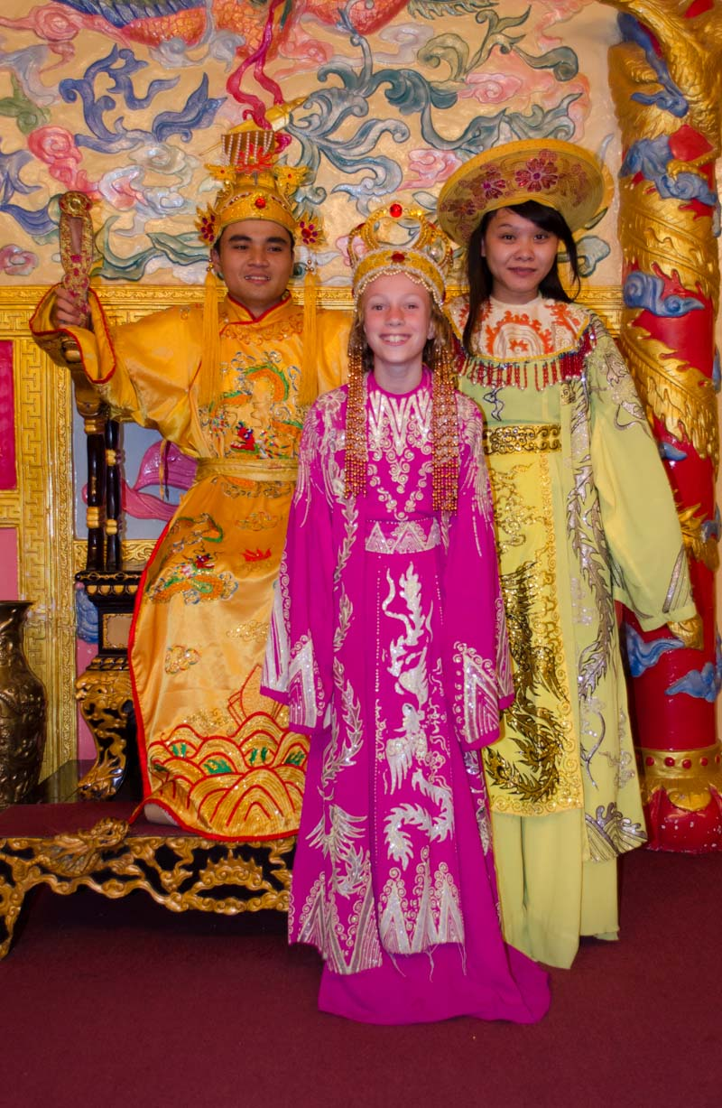 Dressing up at the Summer Palace
