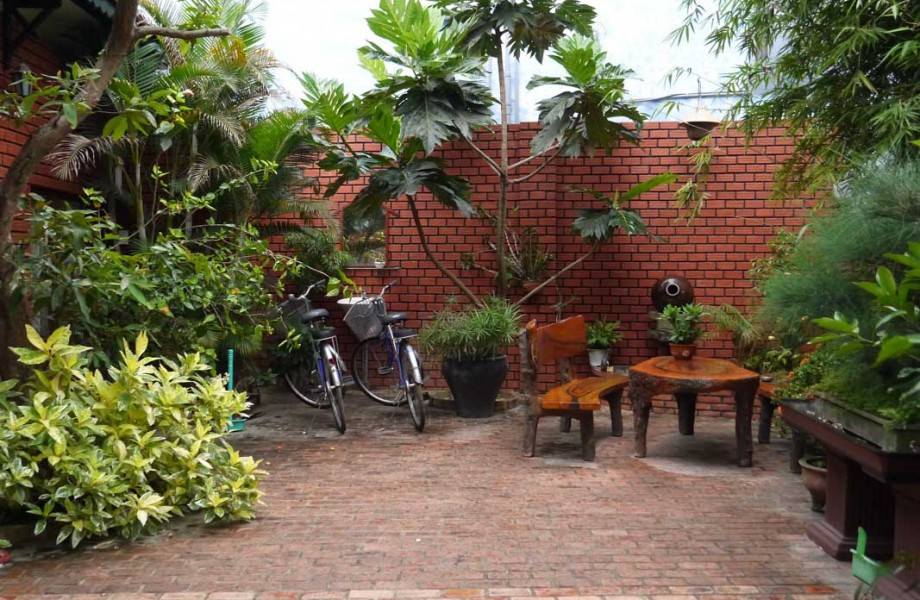 The courtyard in the house of our Hoi An house