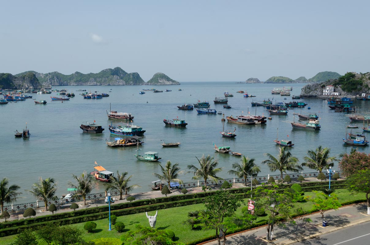 View from out hotel room Cat Ba
