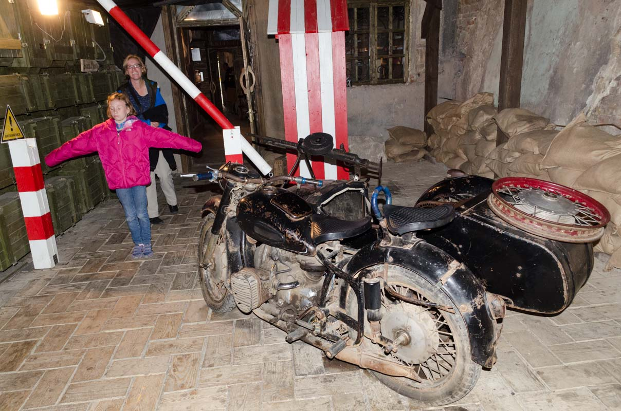 Cool military motorcycle with sidecar