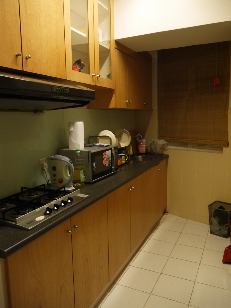 Our kitchen in our apartment in Kuala Lumpur