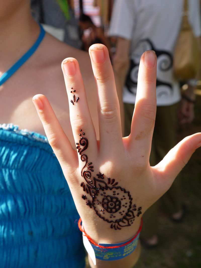 Henna at the Rainforest Music Festival