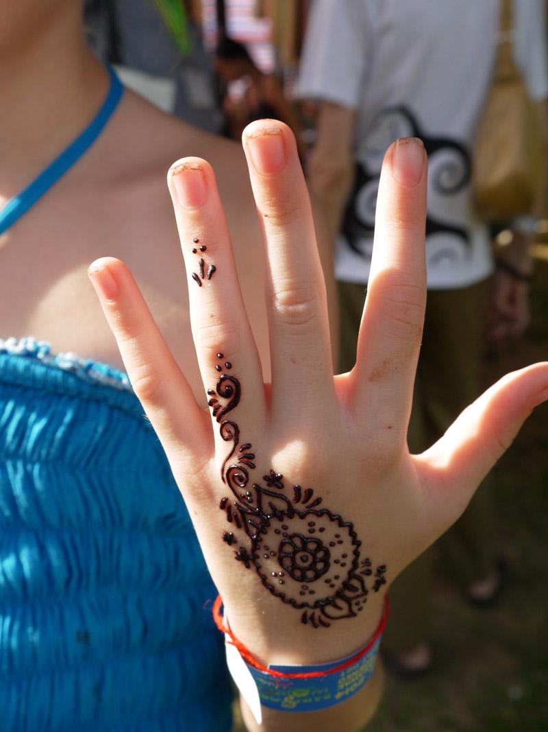 Henna at the Rainforest Music Festival