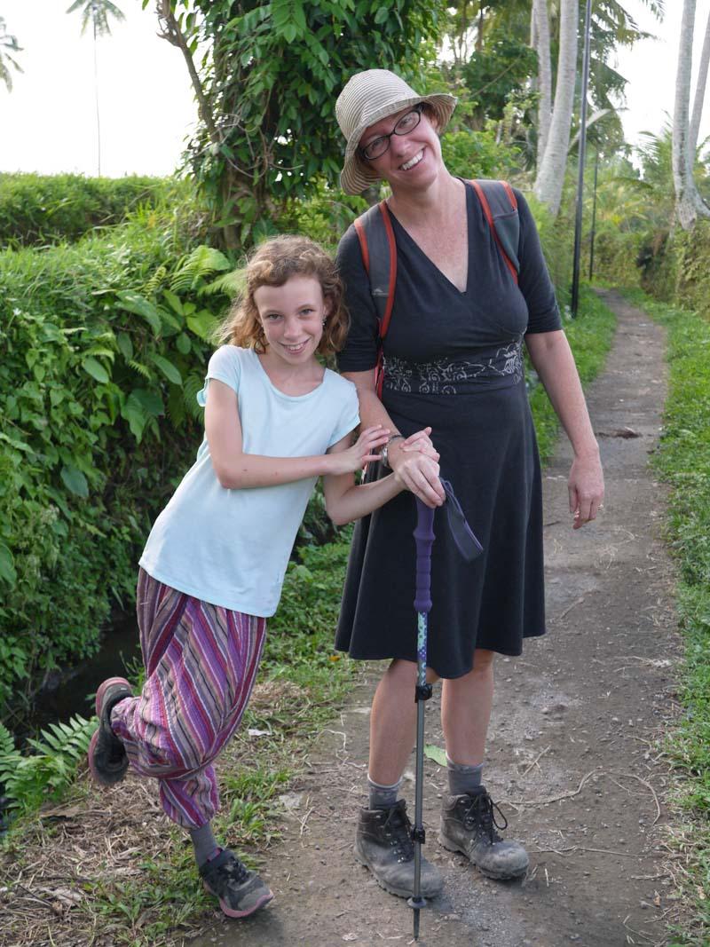 Kerri and Sydney along the trail