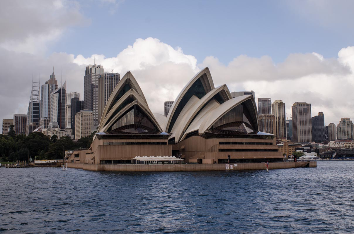 View of the Sydney Opera House from the ferry