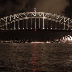 Harbor Bridge and Sydney Opera House at night
