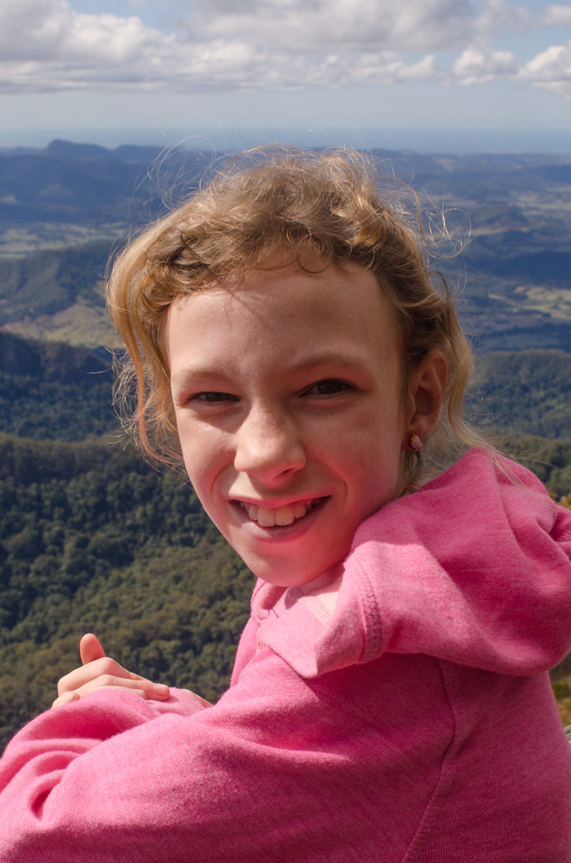 At the top of Mount Warning