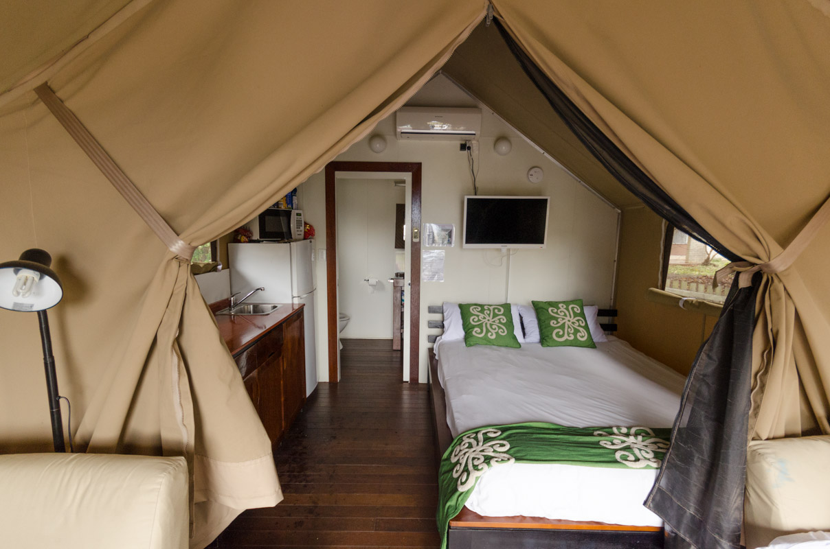 Interior of the Glamping Tent