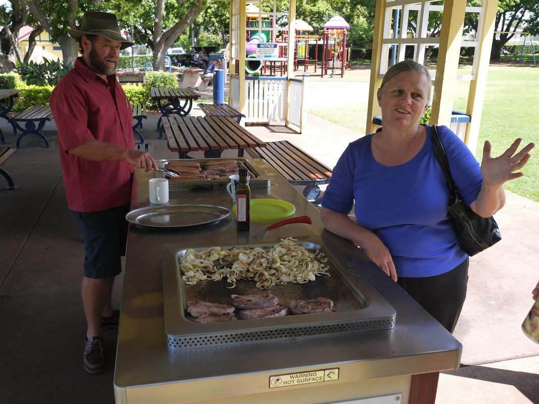 Having a BBQ at one of the local parks in Toowoomba