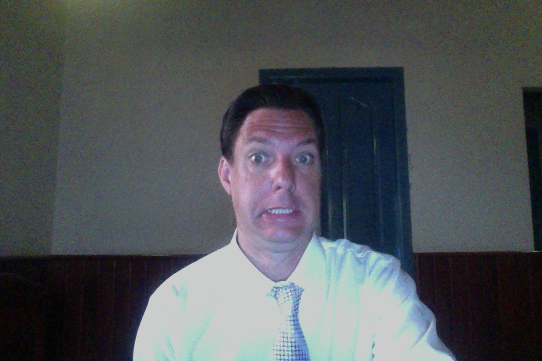 Having fun with Photo Booth before the Skype Interview