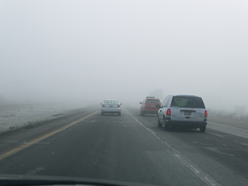 Thick fog in Idaho