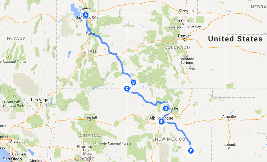 Cross Country Road Trip Part 3: Utah to New Mexico