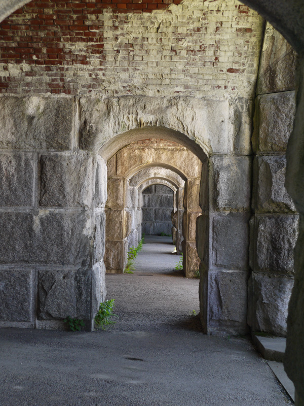 Halls of Fort Popham